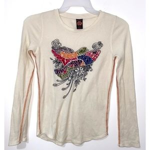 Lucky Brand Peace Love Thermal Shirt